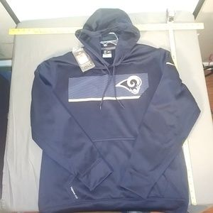 NFL THERMR-FIT ST.LOUIS RAMS HOODIE NEW W TAGS